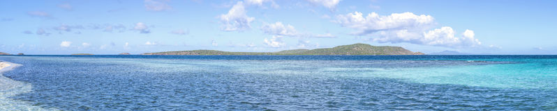 Caribbean panoramic Royalty Free Stock Images