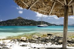 Caribbean Parasol View from Petit Saint Vincent. Stock Photography