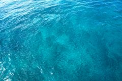 Caribbean perfect turquoise water texture Royalty Free Stock Photo