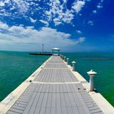 Caribbean pier Royalty Free Stock Image