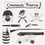 Caribbean pirate set Stock Images