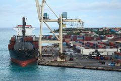 caribbean port obrazy royalty free