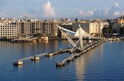 Caribbean port. Puerto Rico country. City of San Juan. I make this picture from ship Stock Photography