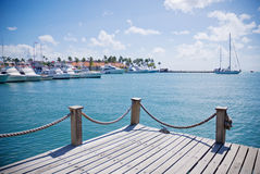 Caribbean port Stock Image
