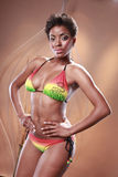 Caribbean rainbow bikini Stock Photo