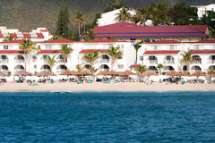 Caribbean Resort. A picture of resort on St Maarten (dutch Antilles Royalty Free Stock Photo