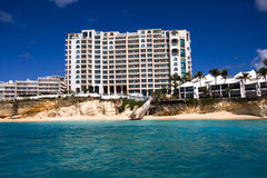 Caribbean Resort. A picture of resort on St Maarten (dutch Antilles Royalty Free Stock Photos