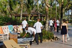Caribbean resort paintings sale. Caribbean Excellence resort paintings sale Stock Image