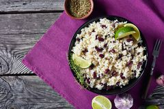 Free Caribbean Rice And Red Beans In A Bowl Royalty Free Stock Photo - 153629795