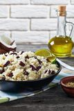 Caribbean Rice and Red Beans in a bowl. Caribbean Rice and Red Beans cooked with coconut milk seasoned with garlic, onions and creole spice in a bowl with stock photos