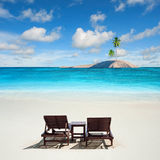 Caribbean sand sea Stock Image