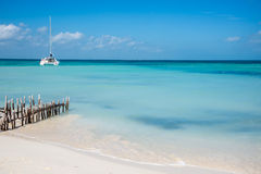 Caribbean Scene,  Sailing Isla Mujeres, Cancun - Riviera Maya. M Royalty Free Stock Image