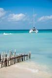 Caribbean Scene,  Sailing Isla Mujeres, Cancun - Riviera Maya. M Stock Images