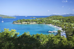 caribbean schronienia jacht Obraz Royalty Free