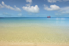 Caribbean sea. With blue sky royalty free stock image