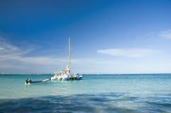 Caribbean sea. Boats sailing Royalty Free Stock Image