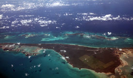 Caribbean Sea from above Royalty Free Stock Image