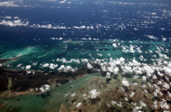 Caribbean Sea from above Stock Photography