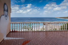 Caribbean sea from a balcony Royalty Free Stock Images