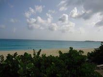 Caribbean sea. Caribbean  beach  in the evening Royalty Free Stock Photo