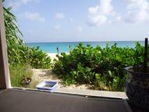 Caribbean sea. Caribbean  beach  lagoon Stock Photos