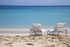Caribbean sea and beach in summer Stock Image