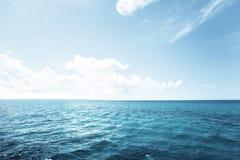 Caribbean sea and blue sky Stock Photo