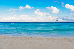 Caribbean sea in Cancun, Mexico Royalty Free Stock Photography