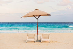 Caribbean sea in Cancun, Mexico Stock Photos
