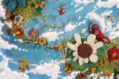Caribbean  sea clay composition Stock Photos