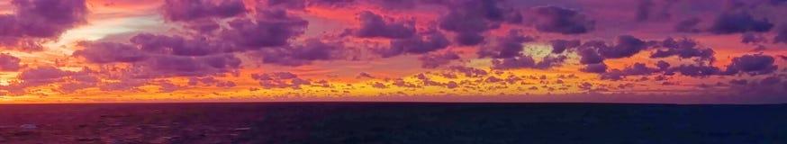 Caribbean Sea Clouds at Dusk