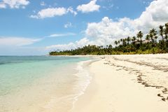 Caribbean Sea Dominican Republic. Sun royalty free stock image