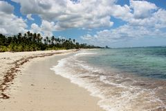 Caribbean Sea Dominican Republic. Sun royalty free stock images