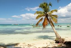Caribbean Sea Dominican Republic. Sun royalty free stock photography