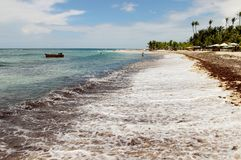 Caribbean Sea Dominican Republic. Sun stock photo