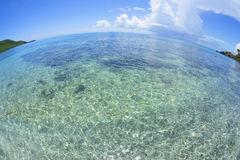 Caribbean sea fisheye view Royalty Free Stock Image
