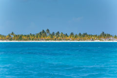 Caribbean sea and lonely island Royalty Free Stock Photo