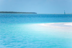 Caribbean sea and lonely island Stock Photography