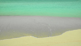 Caribbean sea meets the beach abstract detail Royalty Free Stock Photography