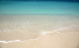 Caribbean sea. The nice view of a beach in cartagena, colombia Stock Photos