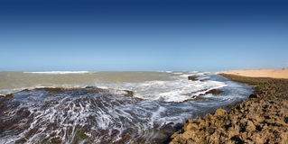 Caribbean Sea at the northern point of South America Royalty Free Stock Photography