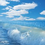 Caribbean sea and perfect sky Royalty Free Stock Image