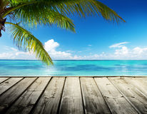 Caribbean sea. And perfect sky stock photos