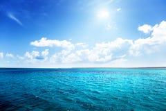 Caribbean sea and perfect sky Royalty Free Stock Photo
