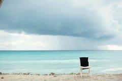 Caribbean Sea. Reefs, dark sky, before a thunderstorm. Caribbean, beaches and ocean. Caribbean Sea. dark sky, before a thunderstorm rain royalty free stock images
