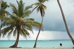 Caribbean Sea. Reefs, dark sky, before a thunderstorm. Caribbean, beaches and ocean. Caribbean Sea. dark sky, before a thunderstorm rain royalty free stock photo