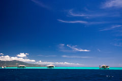 Caribbean sea resort paradise Stock Image