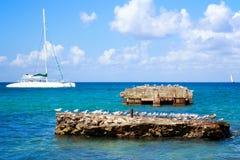 Caribbean sea scenery Royalty Free Stock Photo