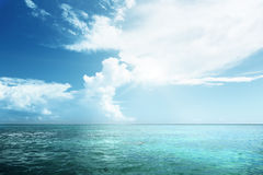 Caribbean sea and sky Stock Photo