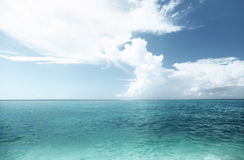 Caribbean sea and sky Stock Photos
